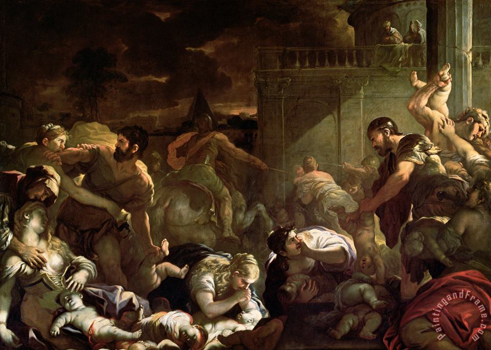 Massacre Of The Innocents painting - Luca Giordano Massacre Of The Innocents Art Print