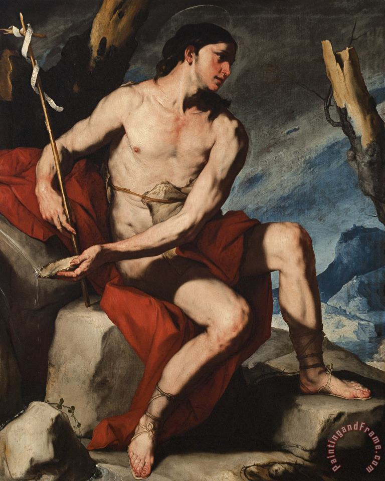Luca Giordano Saint John The Baptist in The Wilderness Art Painting