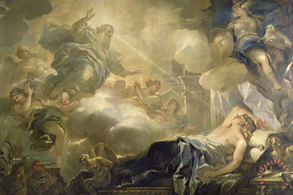 Luca Giordano The Dream of Solomon Art Print