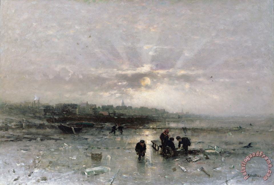 Ludwig Munthe Ice Fishing Art Print