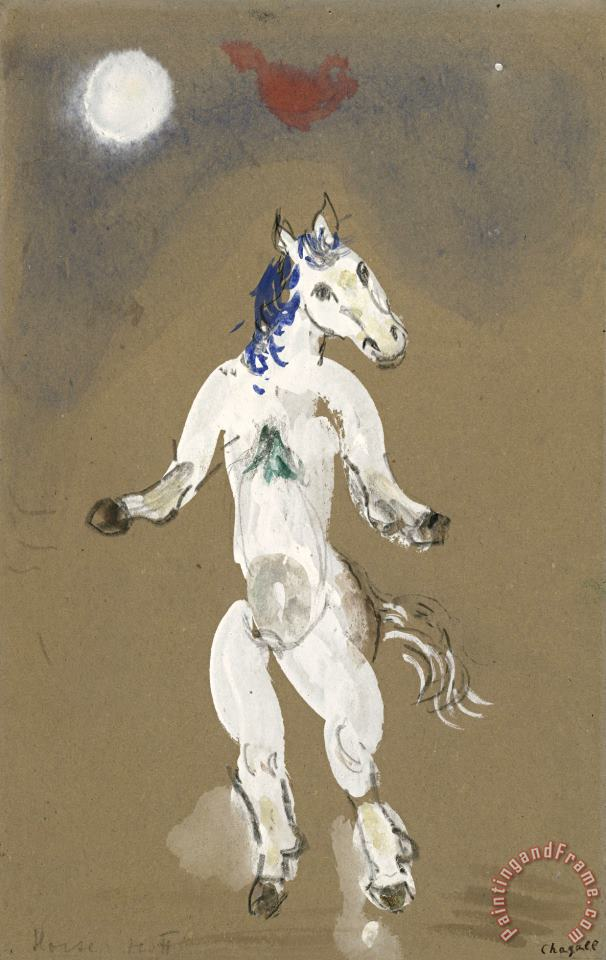 A Horse. Costume Design for Scene II of The Ballet Aleko. (1942) painting - Marc Chagall A Horse. Costume Design for Scene II of The Ballet Aleko. (1942) Art Print