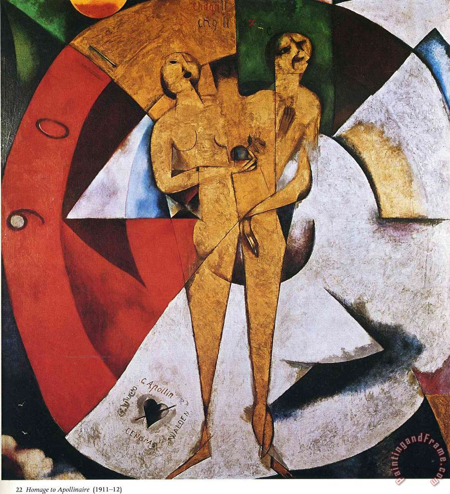 Homage to Apollinaire 1912 painting - Marc Chagall Homage to Apollinaire 1912 Art Print