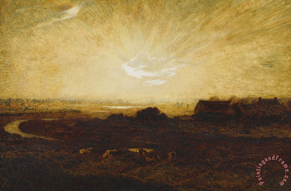 Landscape At Sunset painting - Marie Auguste Emile Rene Menard Landscape At Sunset Art Print