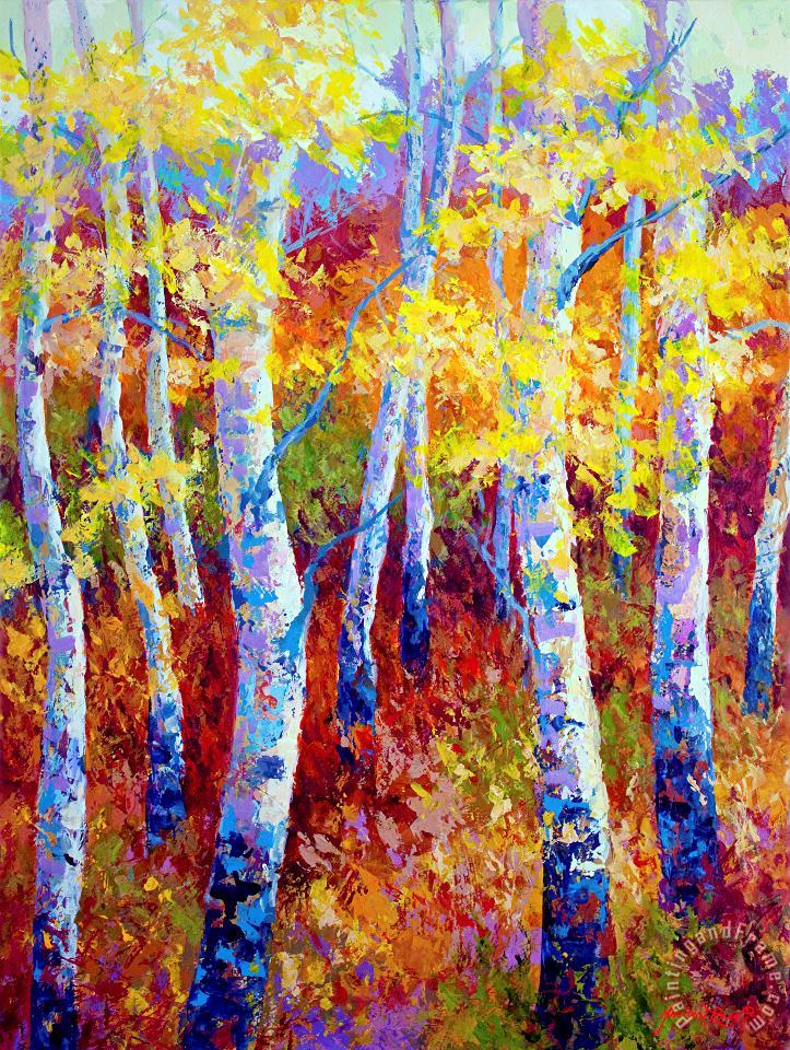 Autumn Gold painting - Marion Rose Autumn Gold Art Print
