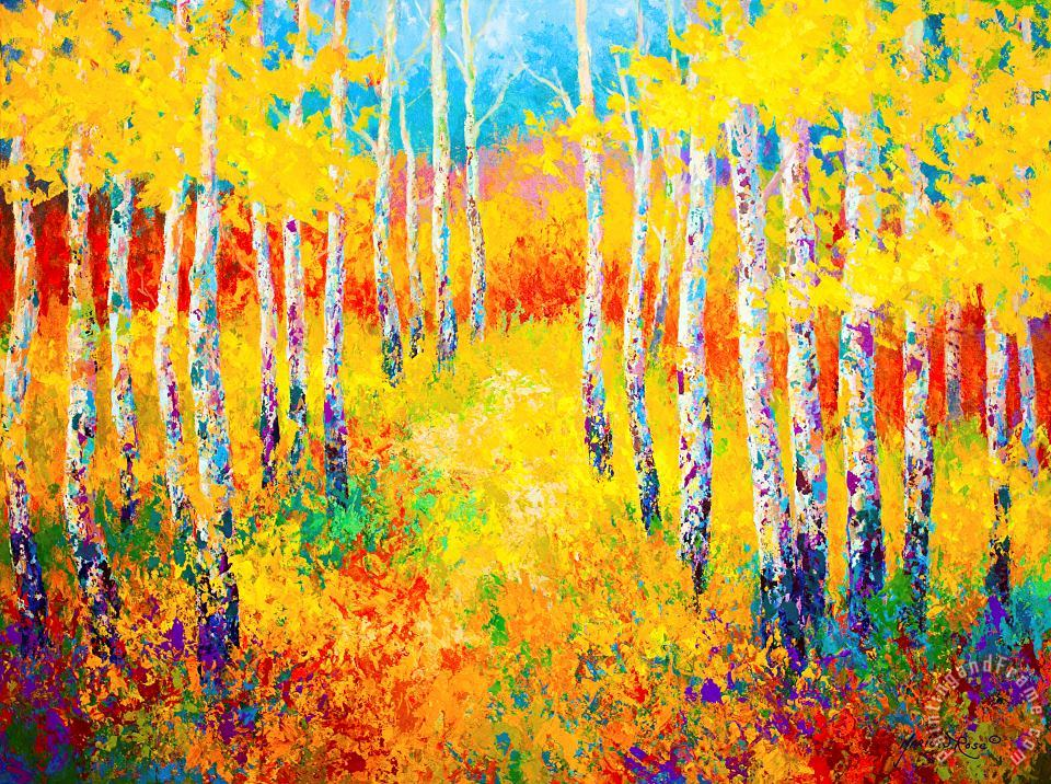 Golden Path painting - Marion Rose Golden Path Art Print