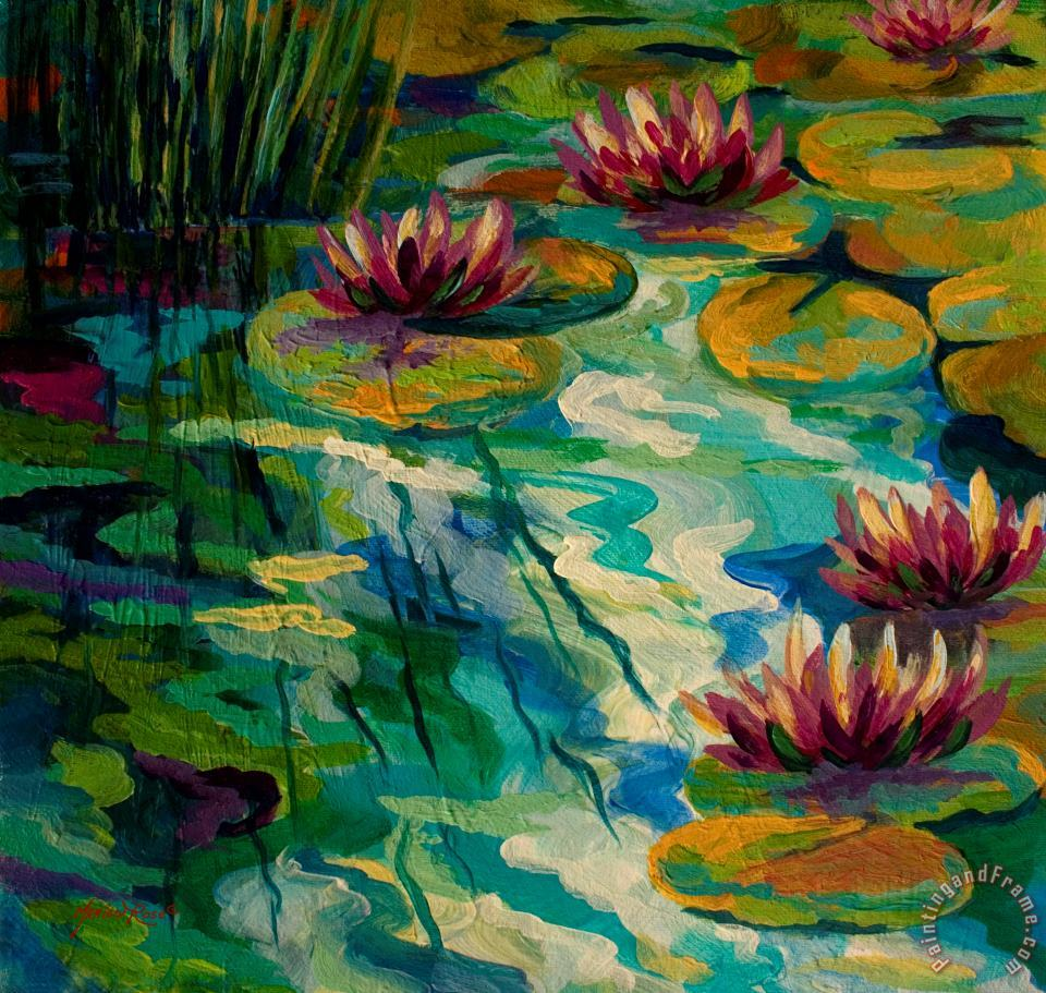 Lily Pond II painting - Marion Rose Lily Pond II Art Print