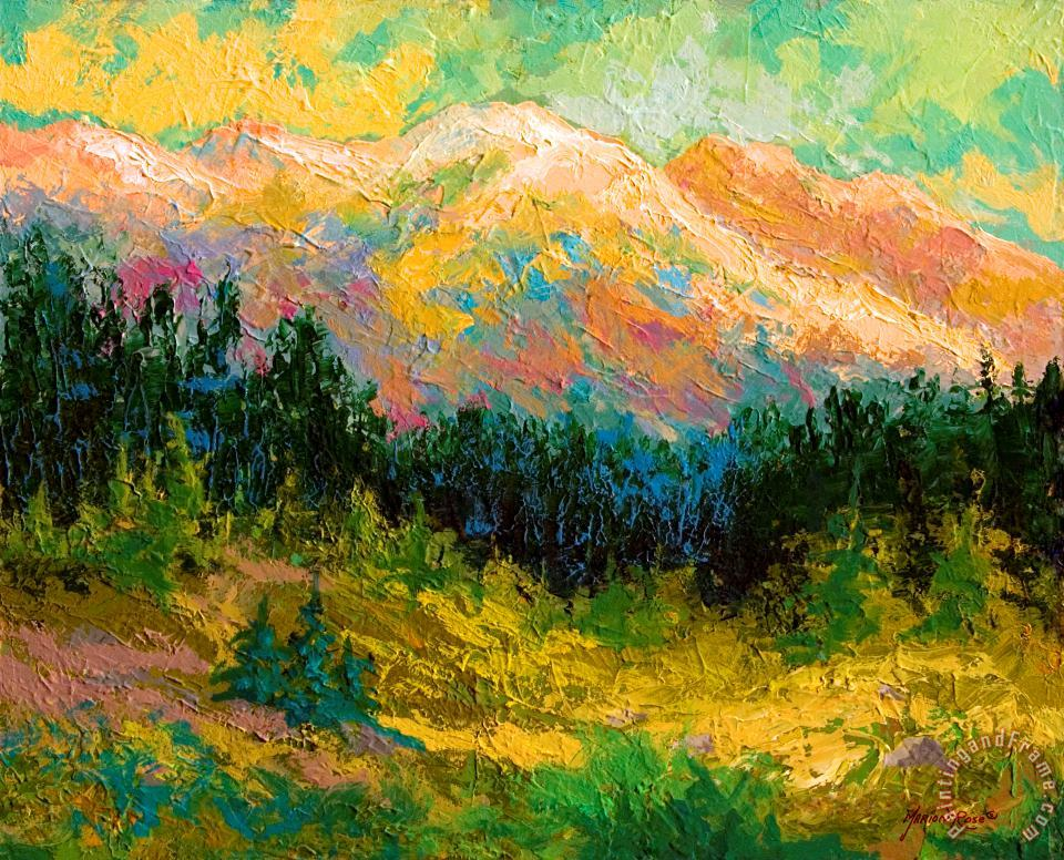 Summer High Country painting - Marion Rose Summer High Country Art Print