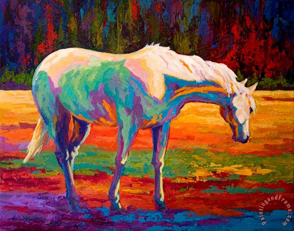 Marion Rose White Mare II Art Painting