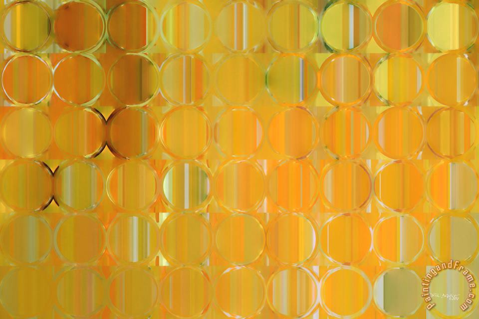 Circles And Squares 19. Big Painting Modern Abstract Fine Art painting - Mark Lawrence Circles And Squares 19. Big Painting Modern Abstract Fine Art Art Print