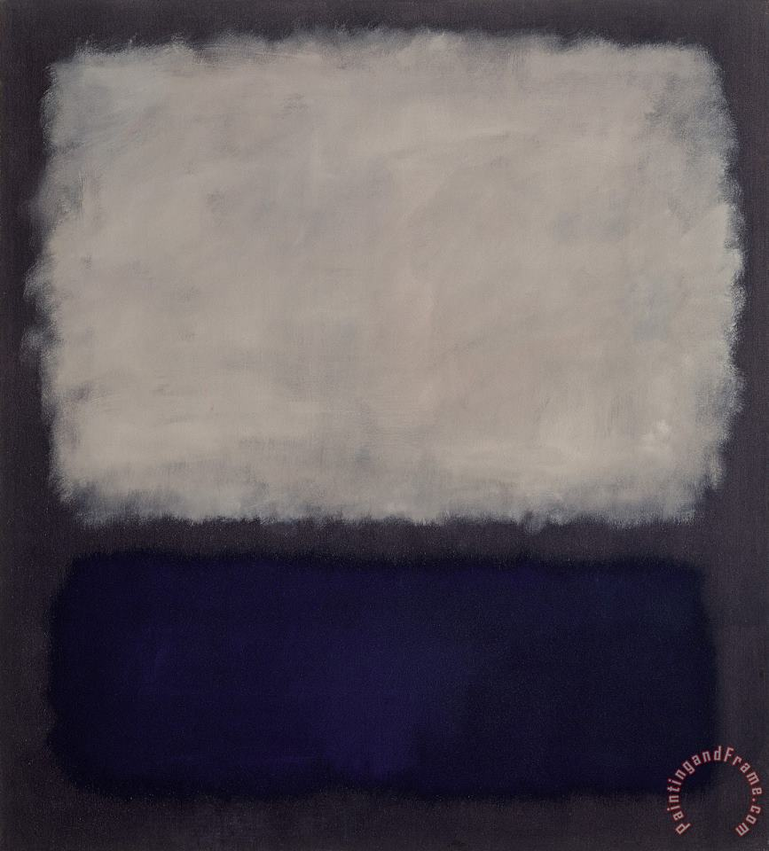 Blue And Gray painting - Mark Rothko Blue And Gray Art Print