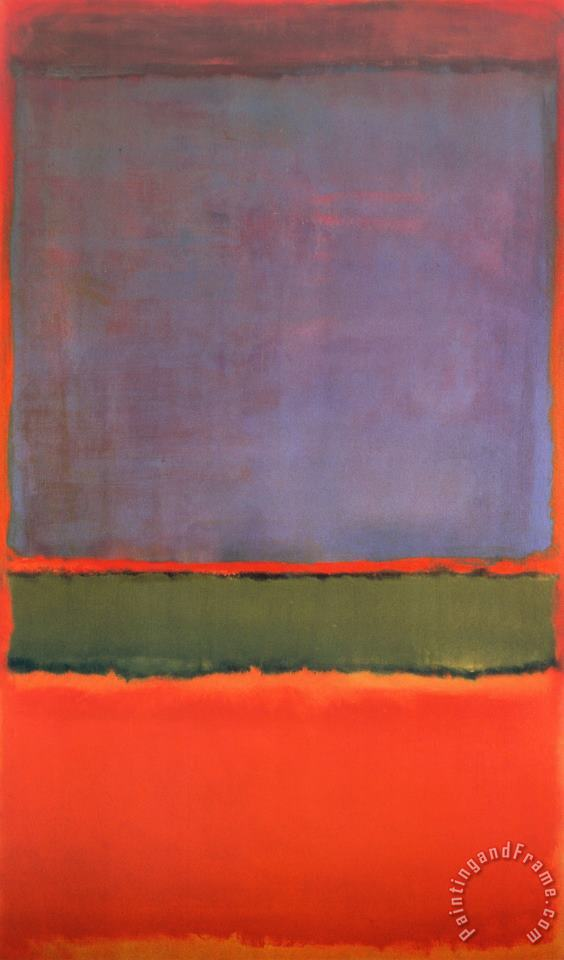 No 6 Violet Green And Red 1951 painting - Mark Rothko No 6 Violet Green And Red 1951 Art Print
