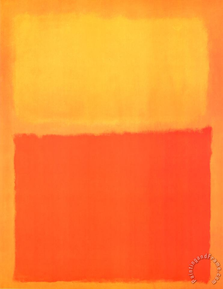Mark Rothko Orange And Yellow Art Painting