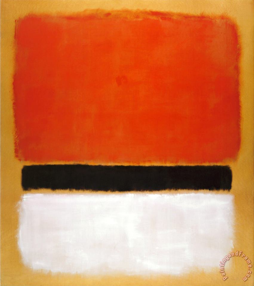 Untitled Red Black White on Yellow 1955 painting - Mark Rothko Untitled Red Black White on Yellow 1955 Art Print