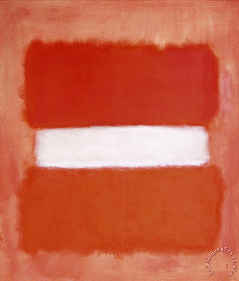 White Center 1957 painting - Mark Rothko White Center 1957 Art Print