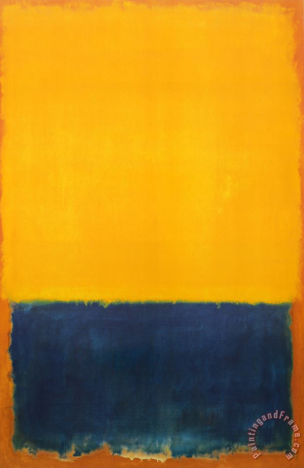 Yellow And Blue painting - Mark Rothko Yellow And Blue Art Print
