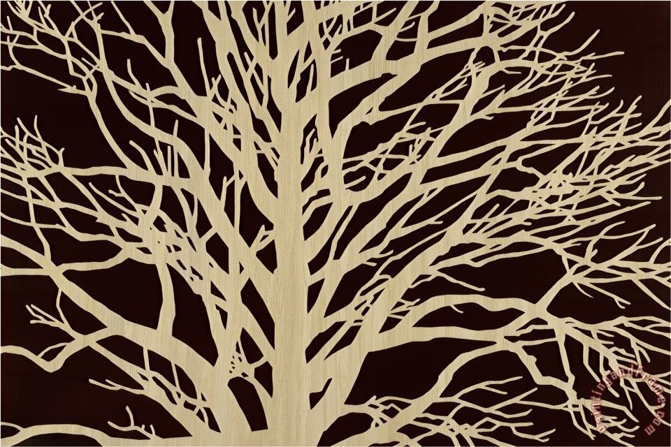 Tree in Sepia painting - Mary Calkins Tree in Sepia Art Print