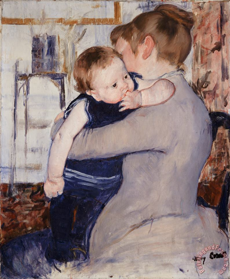 Mother and Child painting - Mary Stephenson Mother and Child Art Print