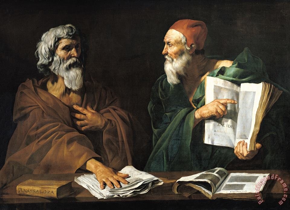 Master of the Judgment of Solomon The Philosophers Art Print