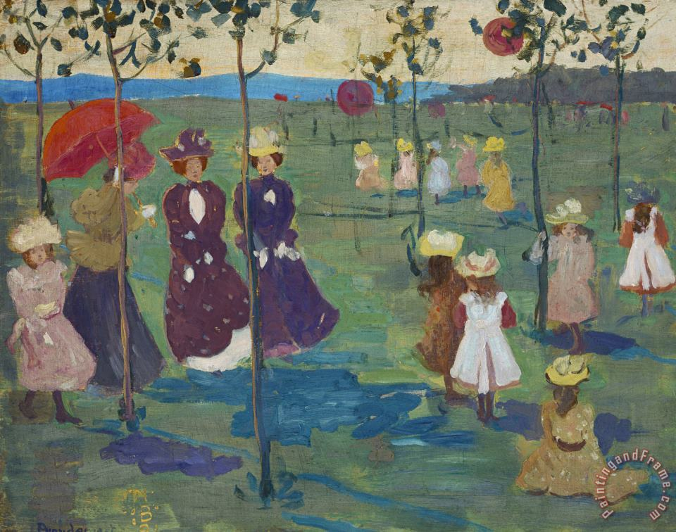 Franklin Park, Boston painting - Maurice Brazil Prendergast Franklin Park, Boston Art Print
