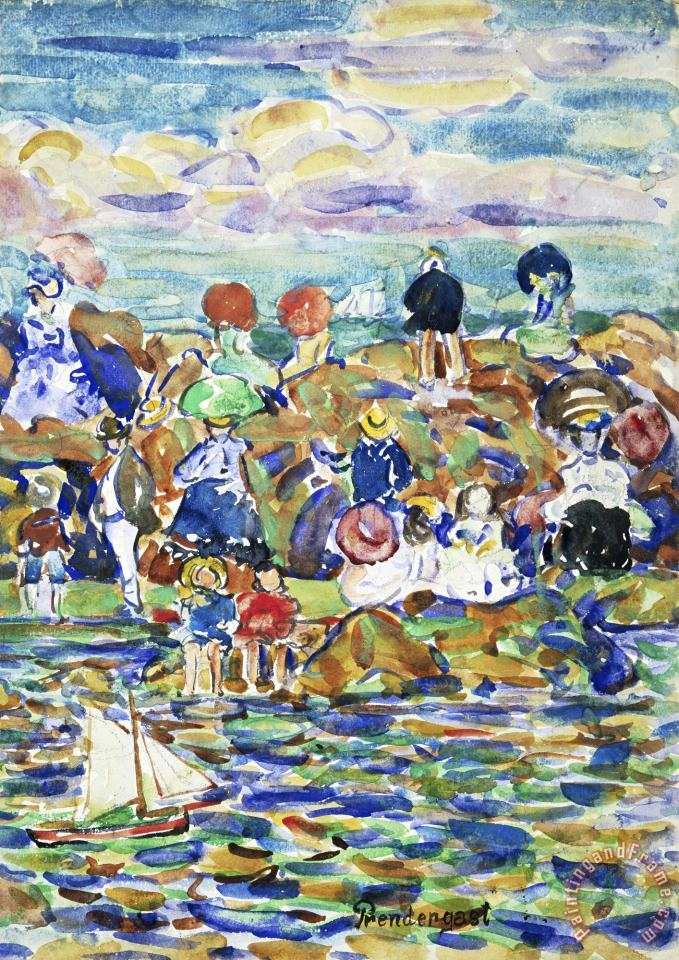 Idlers on The Beach painting - Maurice Brazil Prendergast Idlers on The Beach Art Print