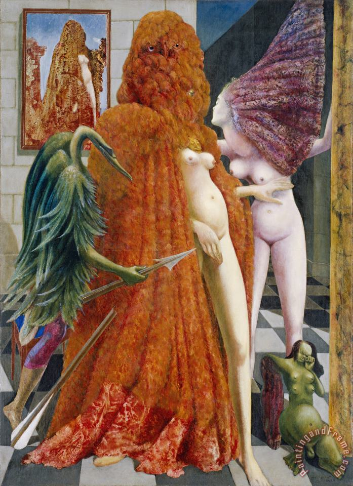 Attirement of The Bride (la Toilette De La Mariee) (l'habillement De L'epousee (de La Mariee) painting - Max Ernst Attirement of The Bride (la Toilette De La Mariee) (l'habillement De L'epousee (de La Mariee) Art Print