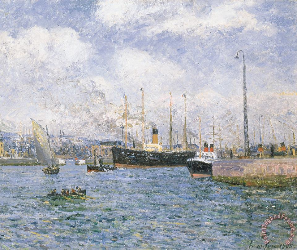 Departure From Havre painting - Maxime Emile Louis Maufra Departure From Havre Art Print