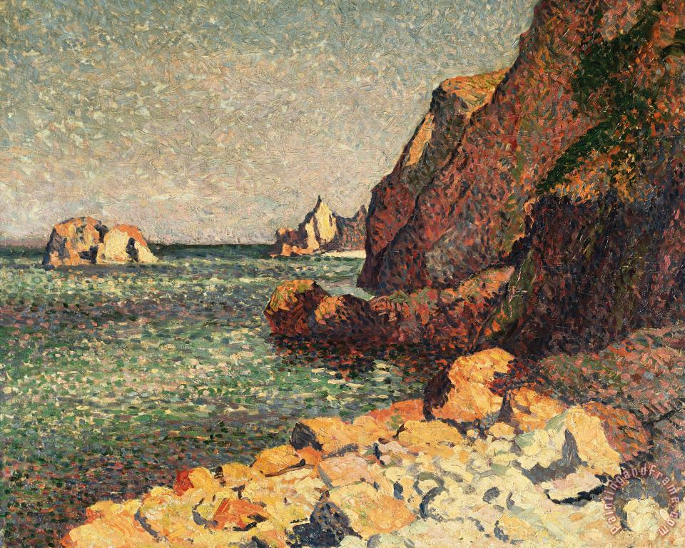 Sea And Rocks at Agay painting - Maximilien Luce Sea And Rocks at Agay Art Print