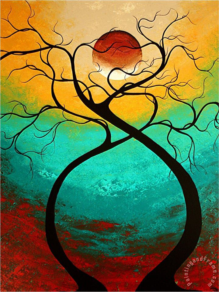 Megan Aroon Duncanson Twisting Love Art Painting