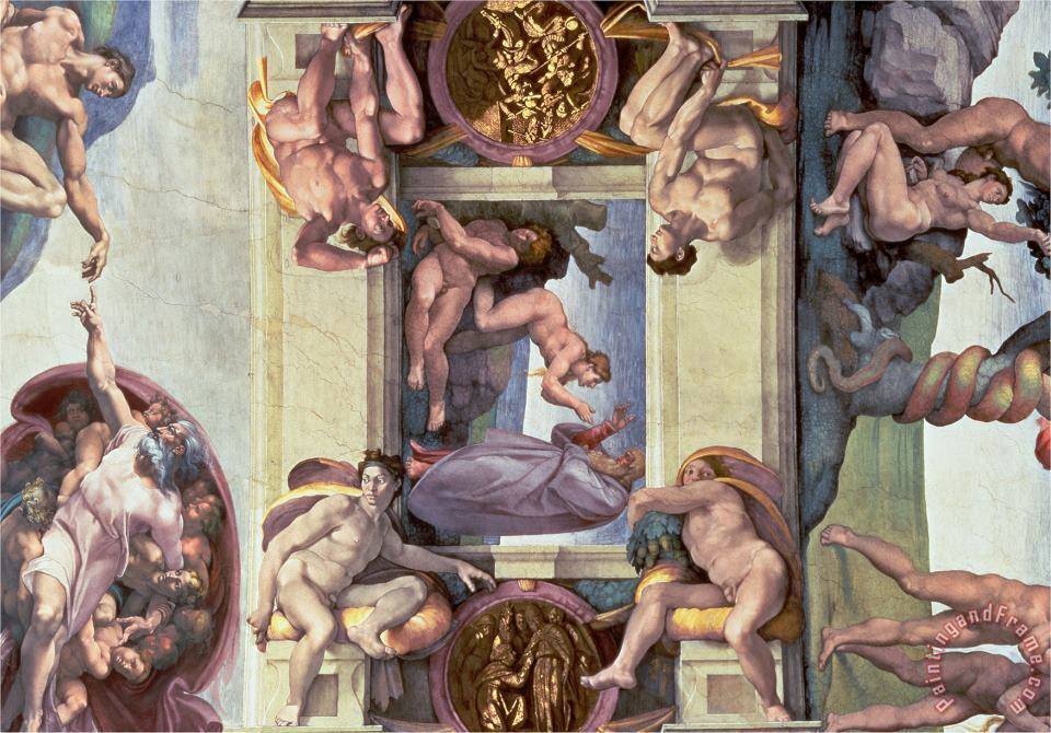 Sistine Chapel Ceiling The Creation of Eve 1510 painting - Michelangelo Buonarroti Sistine Chapel Ceiling The Creation of Eve 1510 Art Print