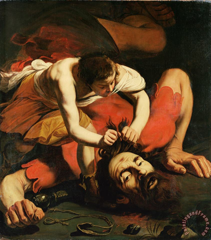 David with the Head of Goliath painting - Michelangelo Caravaggio David with the Head of Goliath Art Print