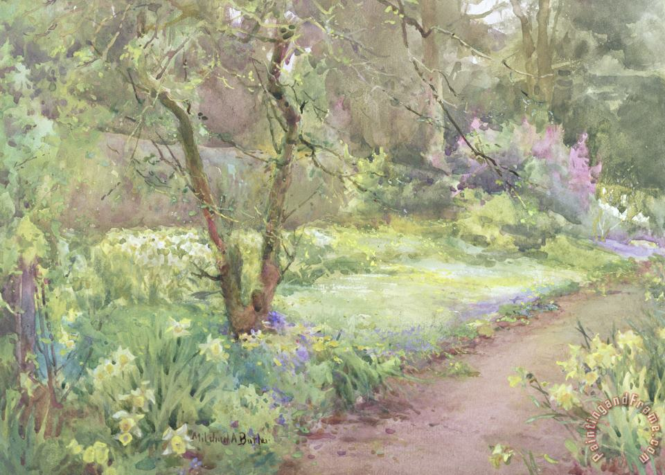 Garden Path painting - Mildred Anne Butler Garden Path Art Print