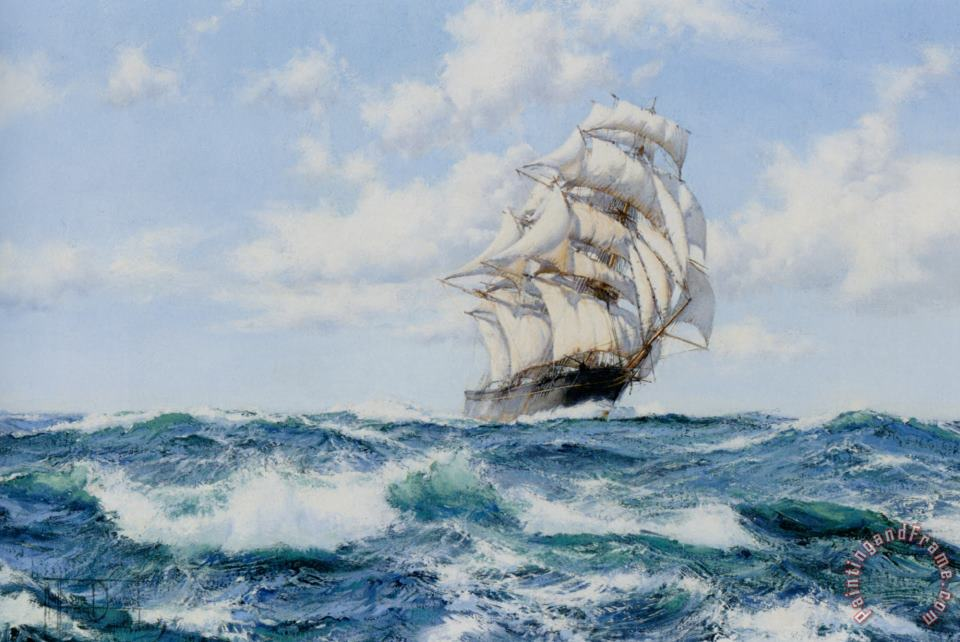 Onward The Clippers Ship painting - Montague Dawson Onward The Clippers Ship Art Print