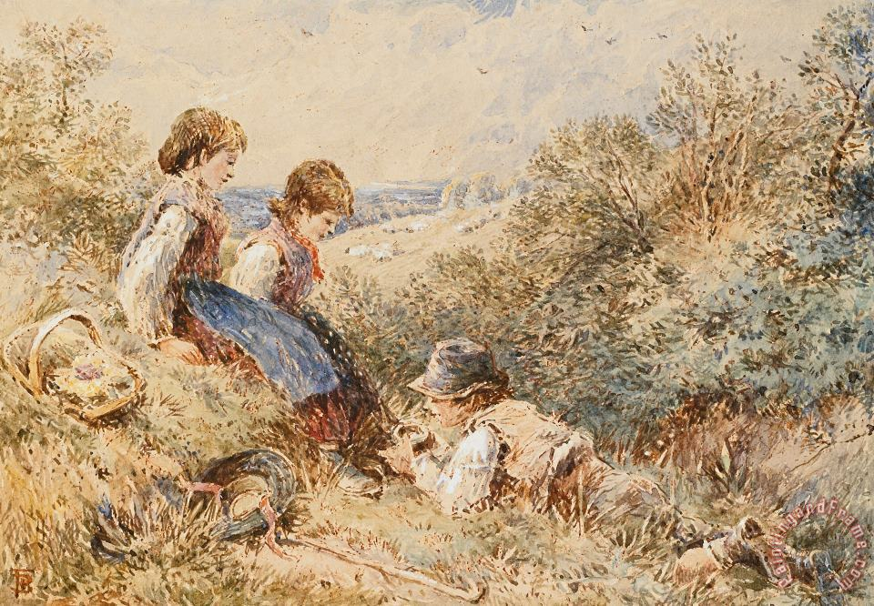Myles Birket Foster The Bird's Nest Art Print
