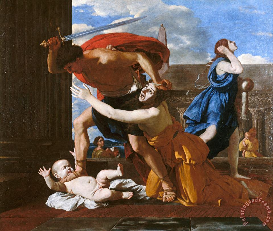 Le Massacre Des Innocents painting - Nicolas Poussin Le Massacre Des Innocents Art Print