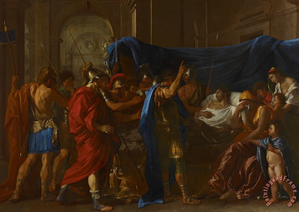 The Death Of Germanicus painting - Nicolas Poussin The Death Of Germanicus Art Print