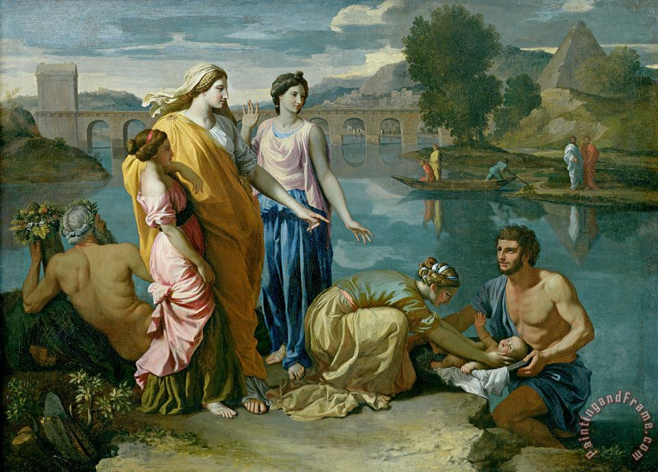 Nicolas Poussin The Finding of Moses Art Print