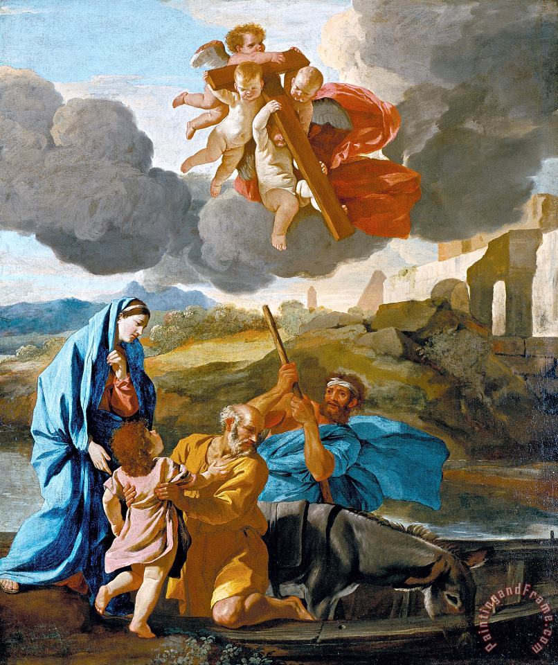 Nicolas Poussin The Return of The Holy Family From Egypt Art Painting
