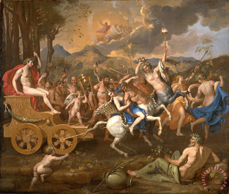 The Triumph of Bacchus painting - Nicolas Poussin The Triumph of Bacchus Art Print