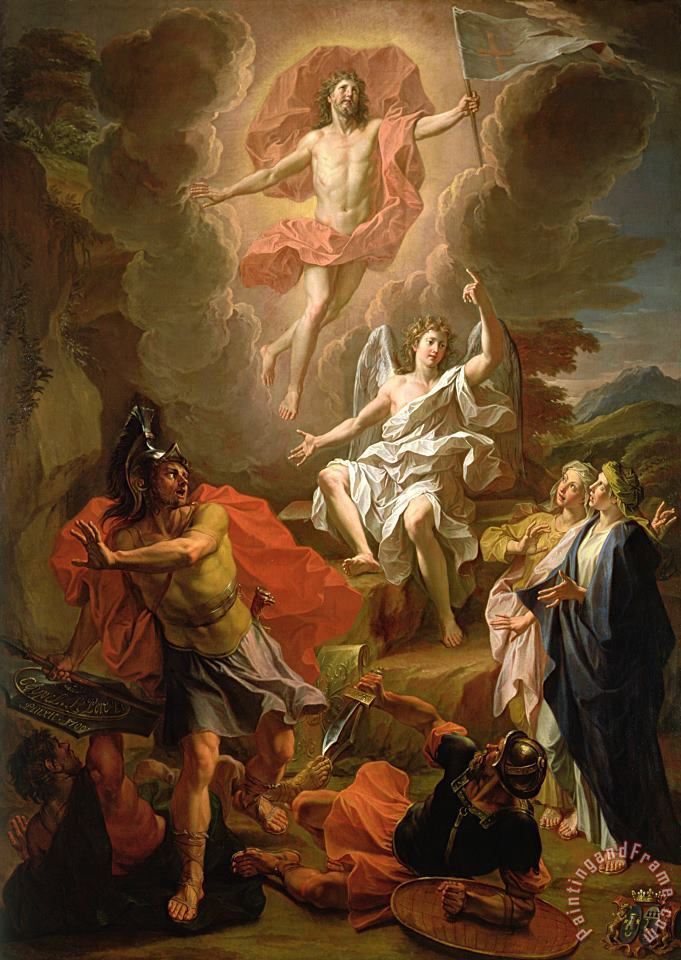 The Resurrection of Christ painting - Noel Coypel The Resurrection of Christ Art Print