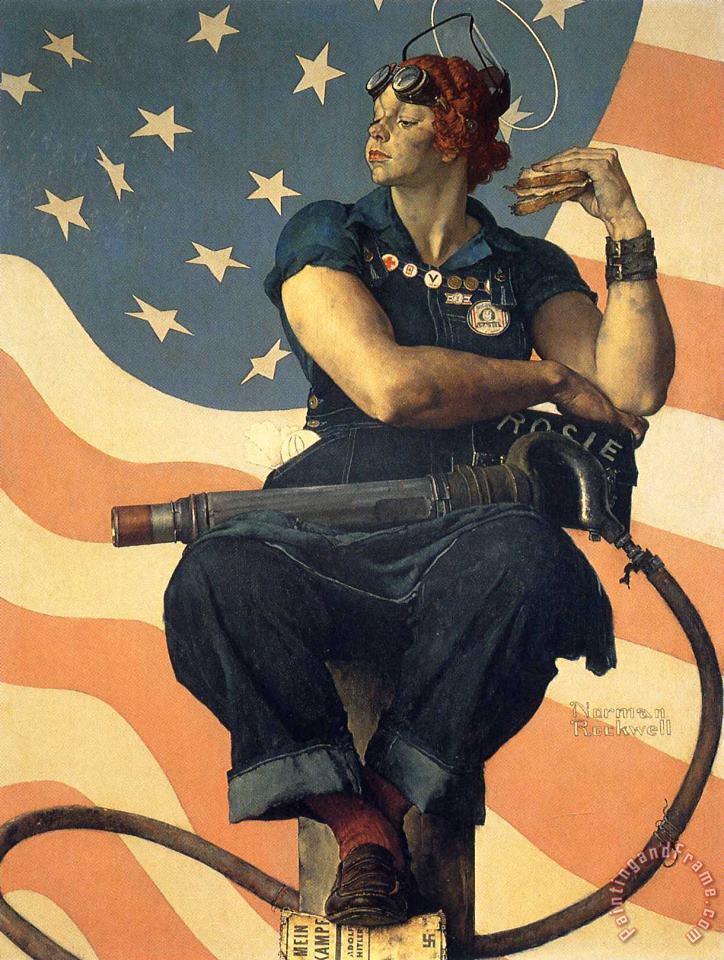 Norman Rockwell Rosie The Riveter 1943 Art Print