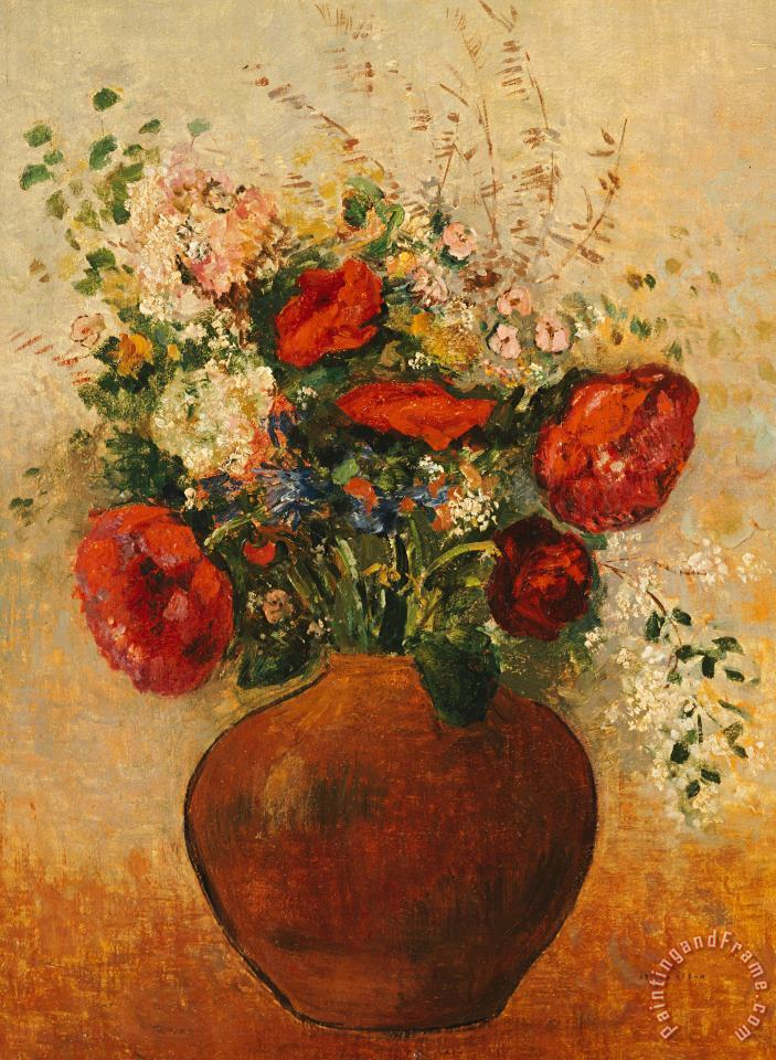 Vase Of Flowers painting - Odilon Redon Vase Of Flowers Art Print