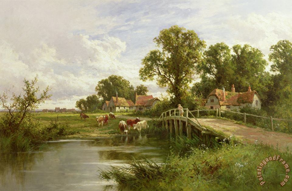 On the Thames near Marlow painting - On the Thames near Marlow On the Thames near Marlow Art Print