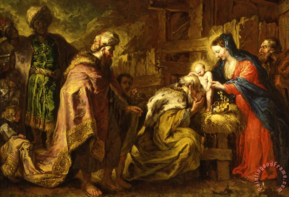 The Adoration Of The Magi painting - Orazio de Ferrari The Adoration Of The Magi Art Print