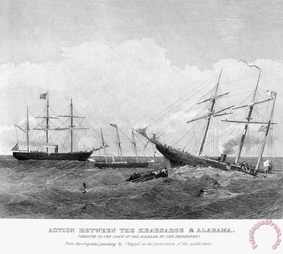ALABAMA vs KEARSARGE, 1864 painting - Others ALABAMA vs KEARSARGE, 1864 Art Print