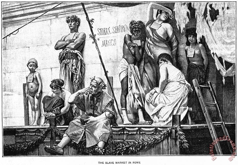 Others Ancient Rome: Slave Market Art Painting