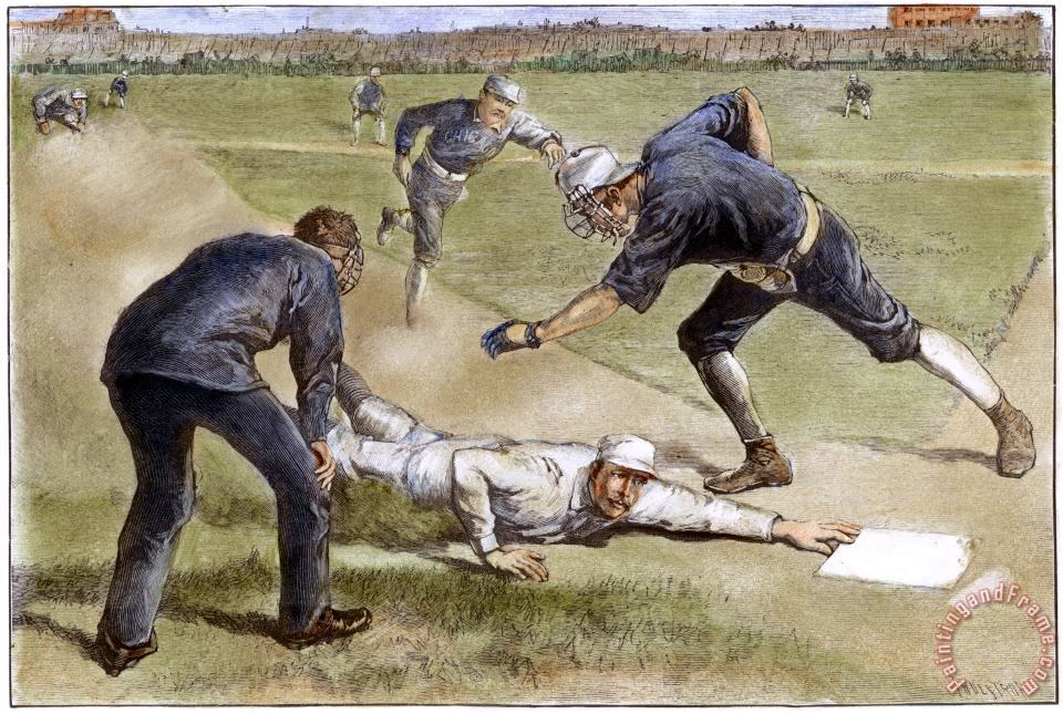 Others Baseball Game, 1885 Art Print