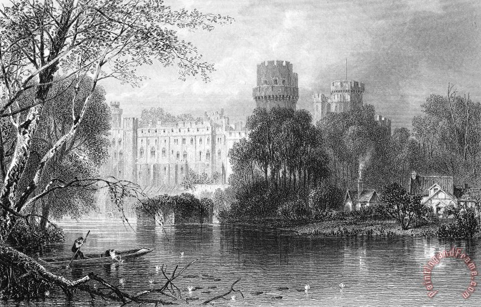Others England: Warwick Castle Painting - Painting And Frame