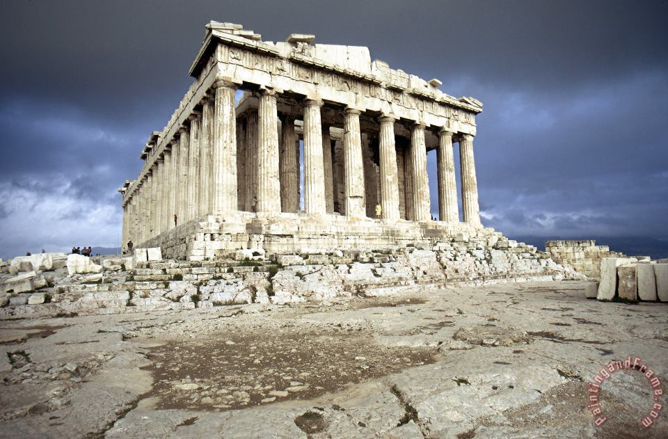 Greece: Parthenon painting - Others Greece: Parthenon Art Print