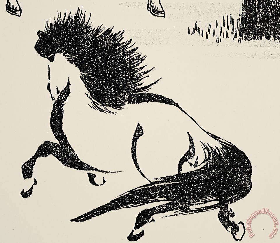 HOKUSAI: HORSE, c1814 painting - Others HOKUSAI: HORSE, c1814 Art Print