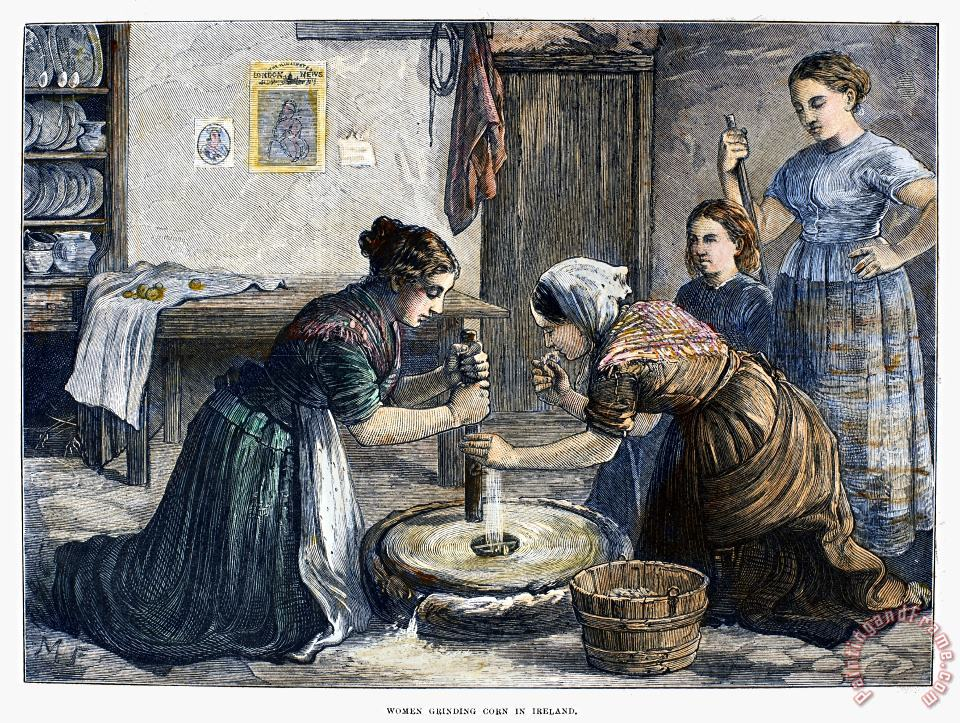 Others Ireland: Hand Mill, 1874 Art Painting
